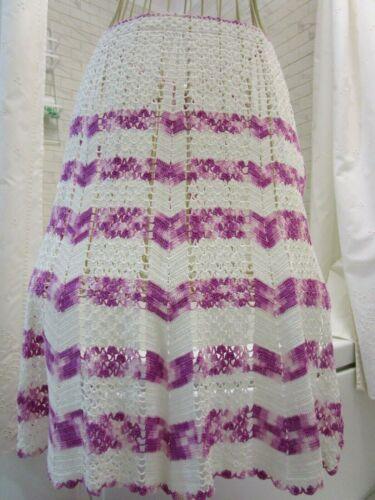 vintage crotchet apron purple & white