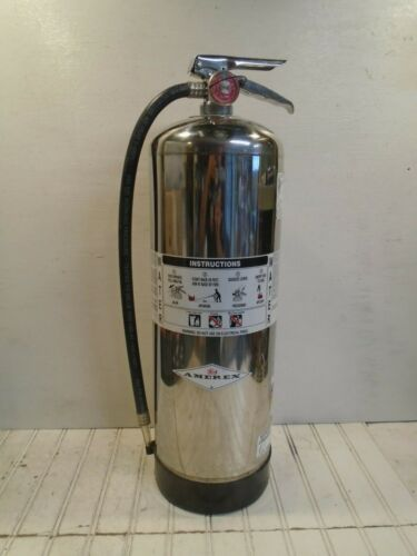 Amerex Fire Extinguisher Model 240 Water Can 2-1/2 gal WORKS