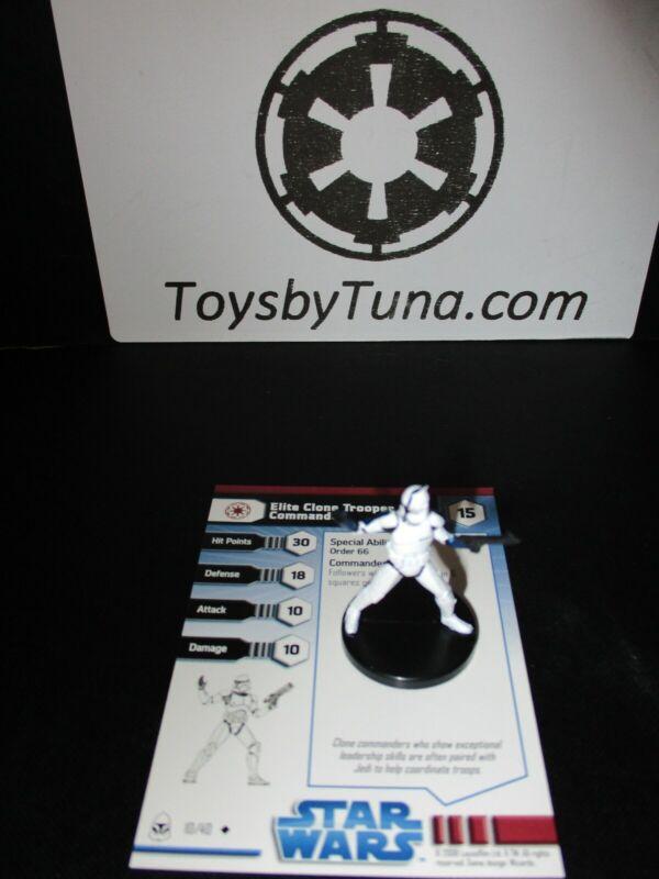 Star Wars Miniatures Elite Clone Trooper Commander Wars w/ Card mini RPG Legion