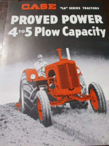 "Case Model ""LA"" Series Tractors Sales Brochure 1949"