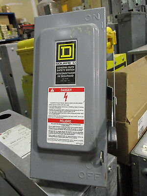 Square D H322n 60 Amp 240 Volt Fusible 3 Phase Disconnect F Series