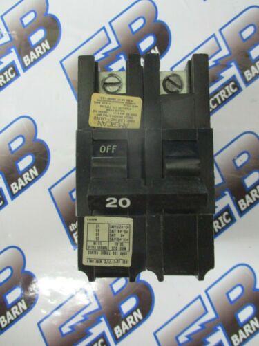 AMERICAN / FPE NA220, 20 AMP 2 POLE 240 VOLT CIRCUIT BREAKER- WARRANTY