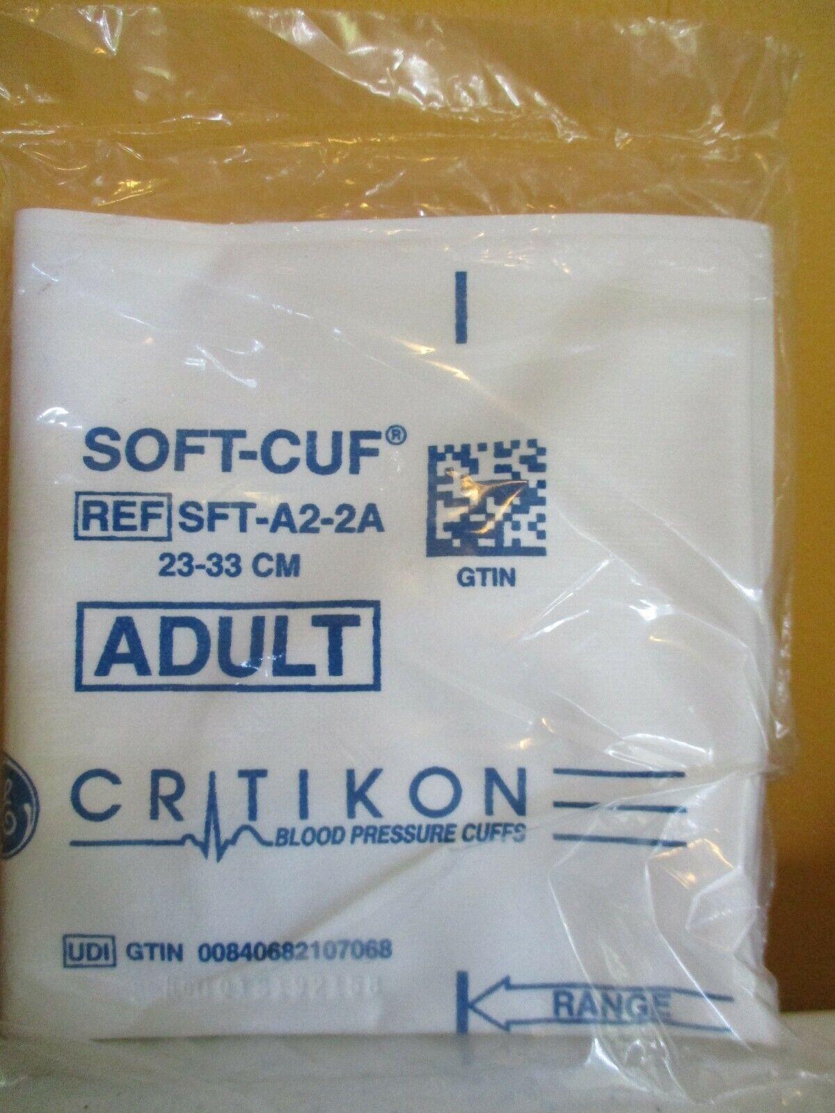 GE Critikon Soft-cuf Adult Blood Pressure Cuff Ref# SFT-A2-2A 23-33 CM