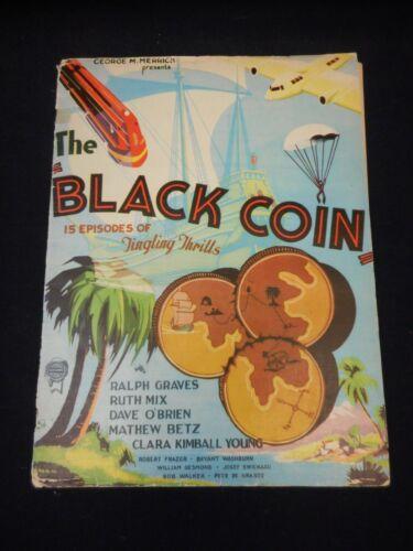 THE BLACK COIN 1936 Serial Campaign Book Pressbook Yakima Canutt Dave O