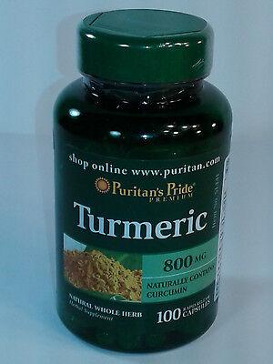 Puritans Pride Turmeric Curcumin 800 Mg 100 Caps   Exp 02 20