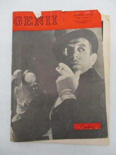 GENII THE CONJURORS MAGAZINE APRIL 1942 THE GREAT CARDINI MAGIC MAGICIAN VINTAGE