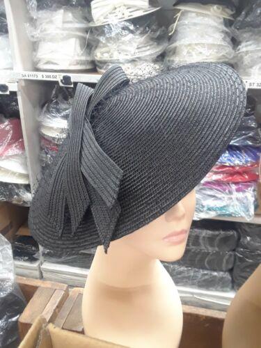 Staw Church Derby Cocktail Fascinator Hat Headband Feather Flower Bow Derby Vail