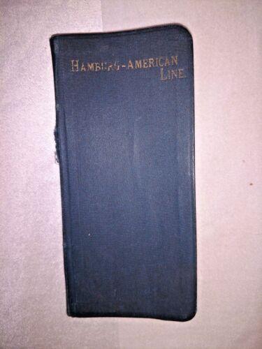 Vintage Book HAMBURG AMERICAN Cruise Line EUROPEAN TRAVELERS MEMO BOOK 1895