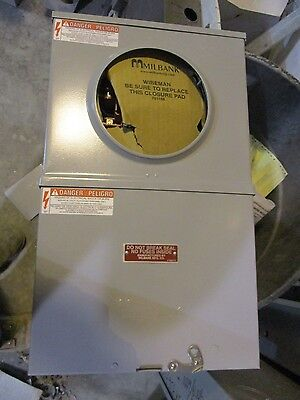 Milbank Instrument Transformer Rated Meter Socket W Test Switch- New