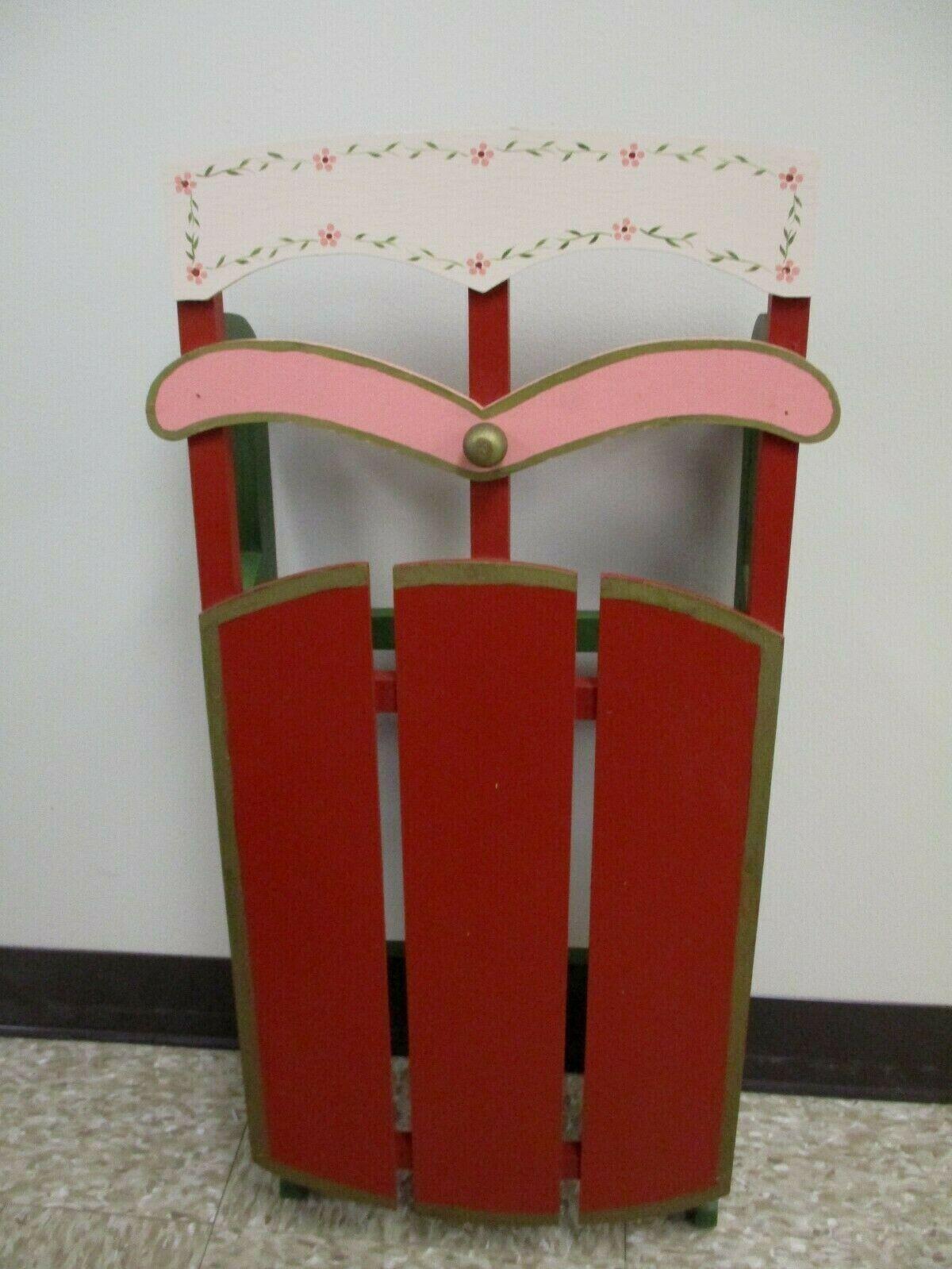 """Vintage 28"""" Decorative Wooden Sled"""
