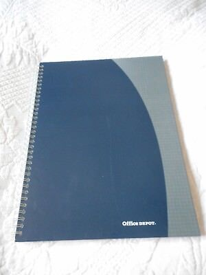 A4 Notebook Ruled Line Hardback Notepad Manuscript Book A4 Blue Cover