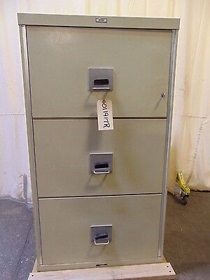Victor Insulated Record Container R-5432 Fire Proof 3 Drawer File Cabinet