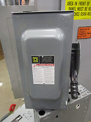 Square D HU362RB, 60 Amp 600 Volt NEMA 3R Disconnect- Series F