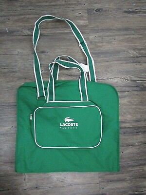 Lacoste Parfums Mens Travel Garment Bag DUFFLE WEEKENDER Evening Bag for sale  Shipping to Canada