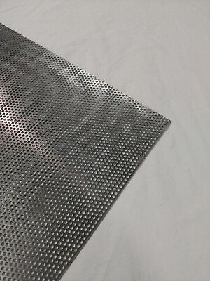 Perforated Metal Aluminum Sheet 116 Thickness 12 X36 18 Hole 316 Stagger