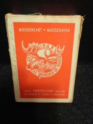 Vintage The Loyal Order of Moose Fraternity Playing Cards