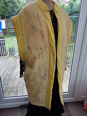Fab vintage  1920s -1930s  beach  / lounging kimono dressing gown - L / XL size