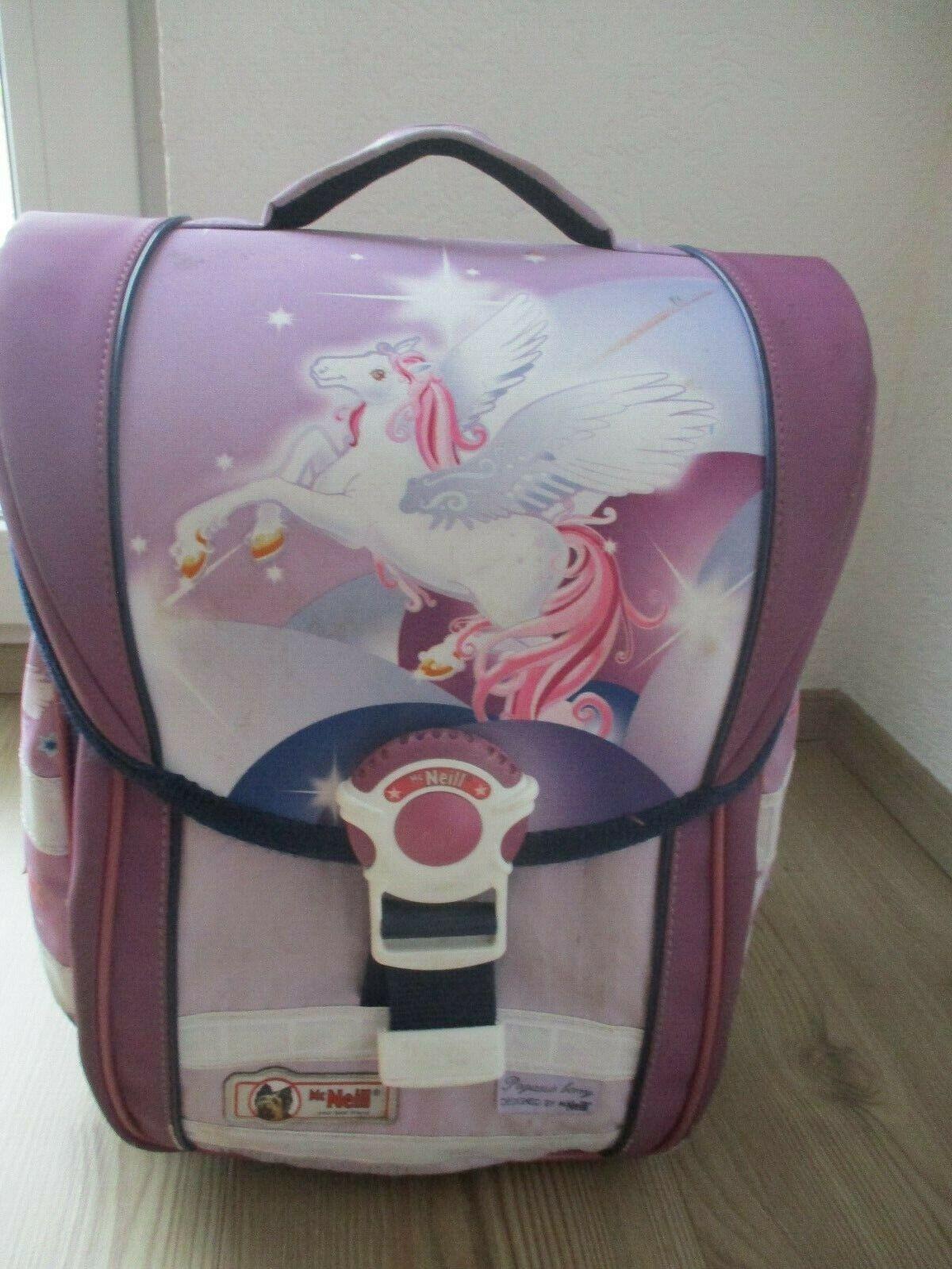 Schulranzen flieder mit Pegasus Pferd von Mc Neil