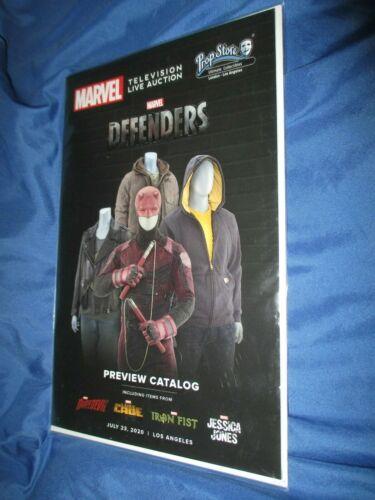 DEFENDERS Prop Store Auction Catalog w/Signed Joe Quesada Art Print DAREDEVIL