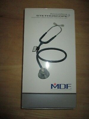 Mdf Instruments Acoustica Stethoscope - All Black New In Box