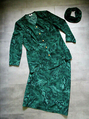 2 tlg. Kleid DELMOD Kostüm 38 40 grün - Kostüme Mit Grünem Kleid