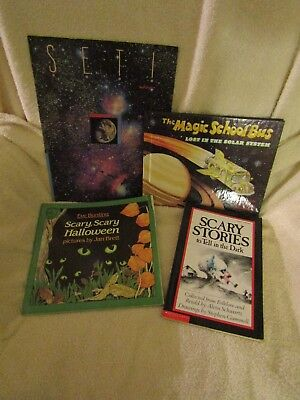 Vintage Children's Books Various Scary,Scary Halloween, The Magic School Bus etc (The Magic School Bus Halloween)