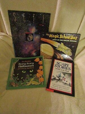 Halloween Children Books (Vintage Children's Books Various Scary,Scary Halloween, The Magic School Bus)