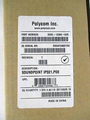 2200-12360-025 Polycom Soundpoint Ip 321 335 Voip Telephone Business Phone New