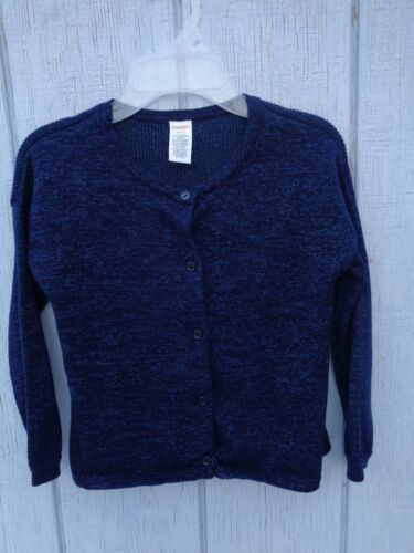Gymboree Cardigan Blue With Sparkling Thread Girls Size S ( 5T - 6 ) Sweater