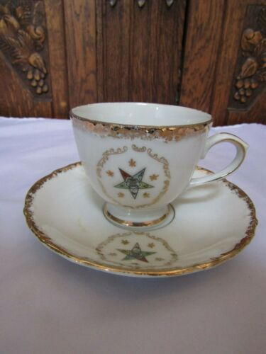 Vintage Temple Treasures FN Kistnfr Co- Chicago IL OES Masonic Tea Cup & Saucer