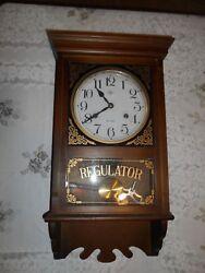 Vintage Elgin Regulator Key Wall Clock