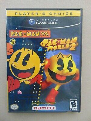 2 Disc Set Nintendo Gamecube Game Player's Choice Pac-Man vs/Pac-Man World 2