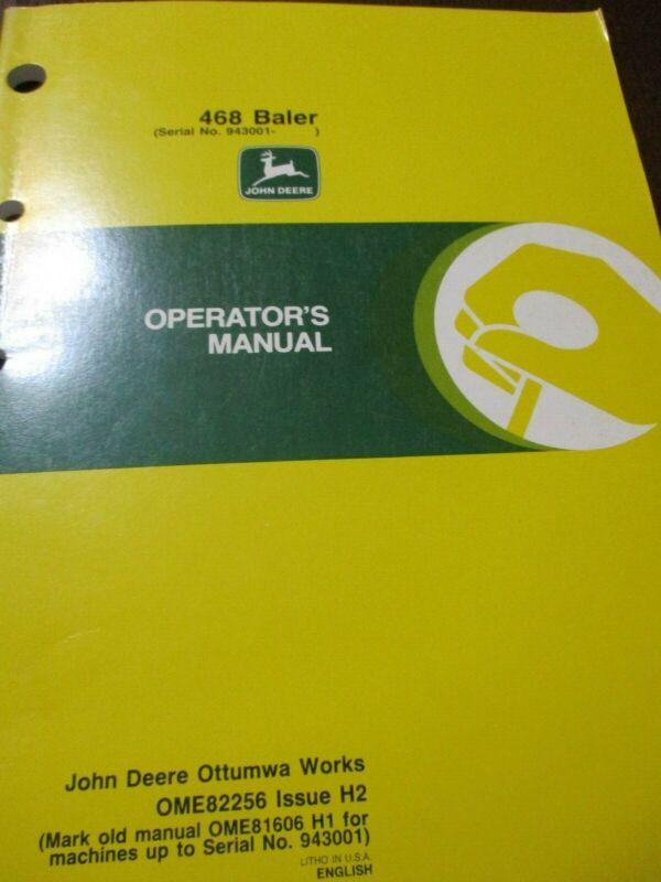 John Deere 468 Baler Operator