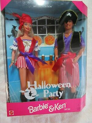 1998 Mattel Halloween Party Barbie & Ken Gift set #19874 Target Special Edition