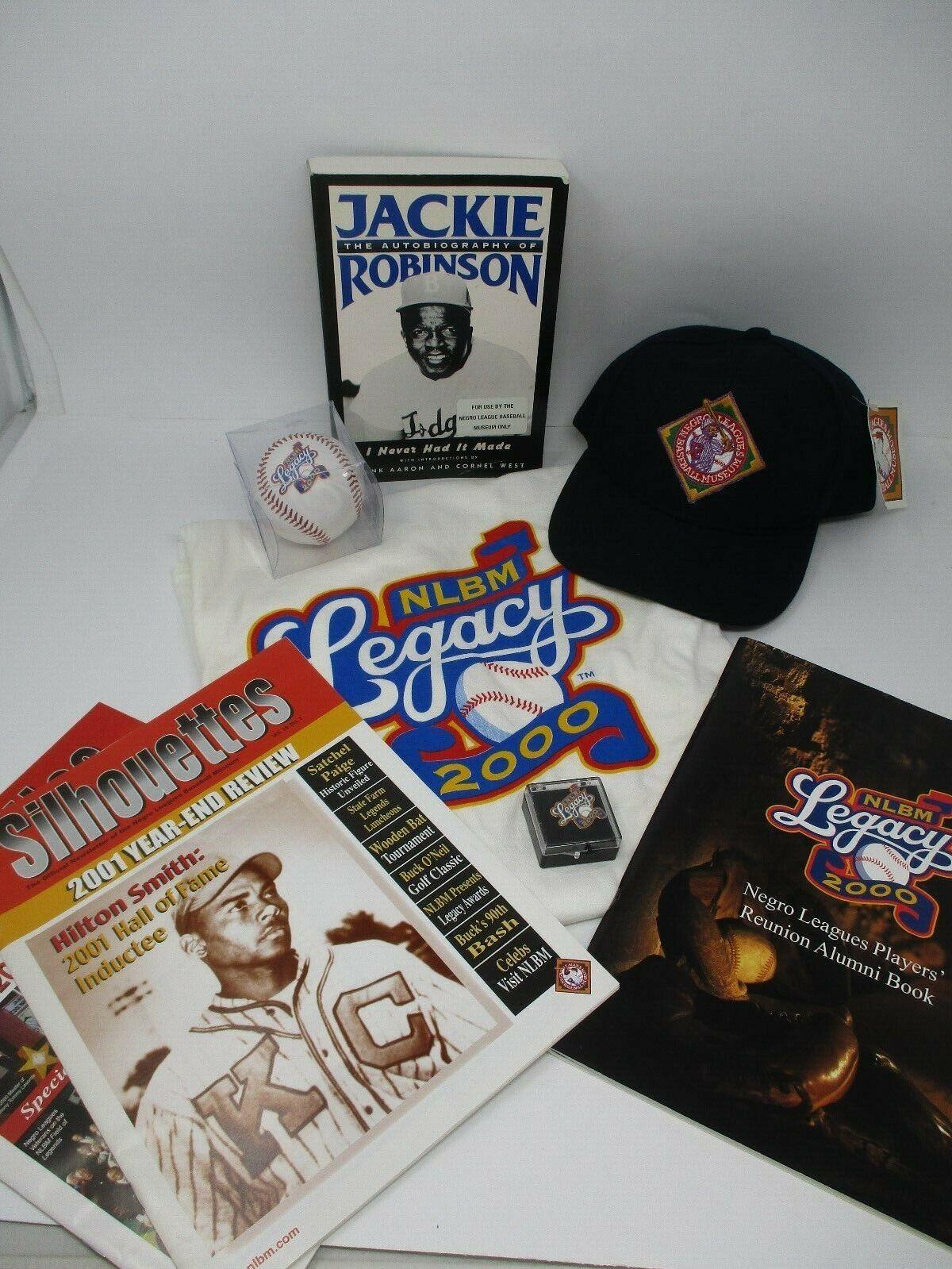 Large Negro League Baseball Museum Lot Of Memorabilia Cap T-shirt Ball Pin Books