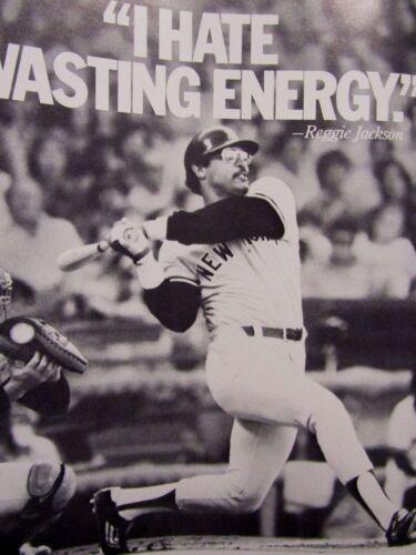 "1980 Getty & New York Yankees Reggie Jackson Original Print Ad 8.5 x 11"""