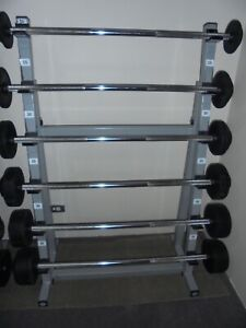 LIFTING BARS STRAIGHT , FIXED RUBBER WEIGHTS