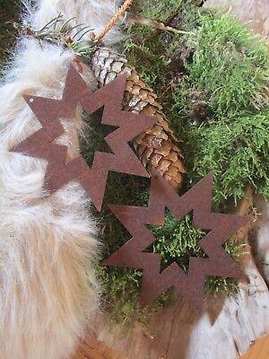 Edelrost Stern 1 Stück Aufhänger Christbaumschmuck Dekoration Weihnachten Advent