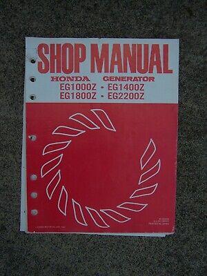 1983 Honda Portable Generator Eg1000z Eg1400z Ez18001z Eb2200z Shop Manual U