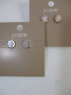 Iridescent Crystal - J.Crew Crystal Dot Stud Earrings NWT $22.50  Iridescent geo stud earrings Set 2
