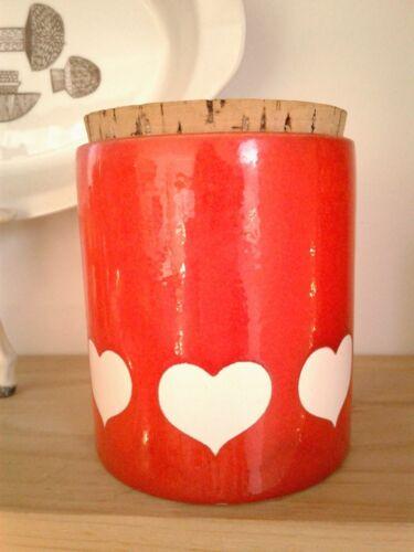 Vintage Waechtersbach hearts storage jar