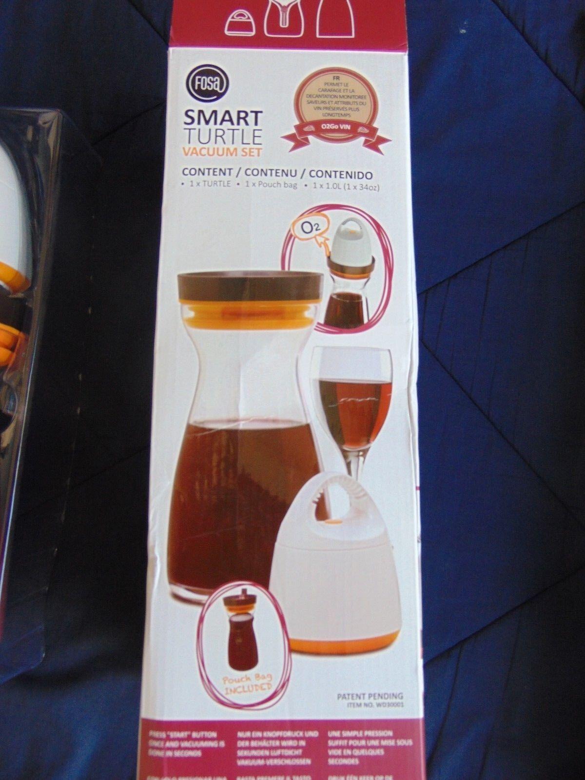 FOSA Smart Turtle Vacuum Set O2Go Wine O2 Beverages Wine Mon