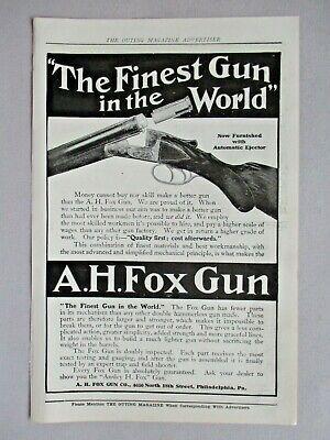 A.H. Fox Gun PRINT AD - 1907 ~~ shotgun, shot gun