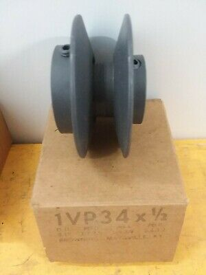 Browning 1vp34 X 12 Vp Series Cast Iron Variable Pitch Sheave Pulley Nos