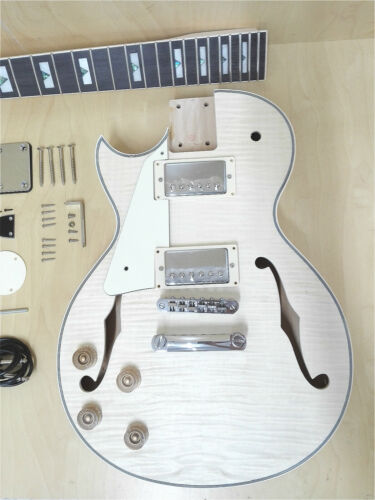 E-239A DIY-PBLH Totally NO-SOLDER Left-Handed Electric Guitar,Semi-Hollow Body