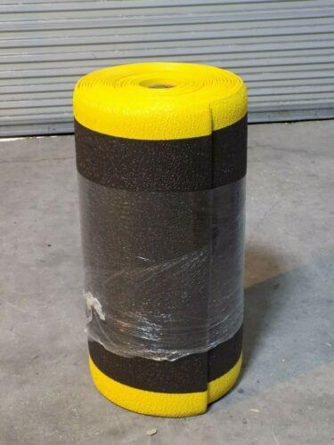 Pro Safe Anti Fatigue Runner Mat 60 Ft x 3 Ft x 3/8 In Vinyl Sponge Black/Yellow