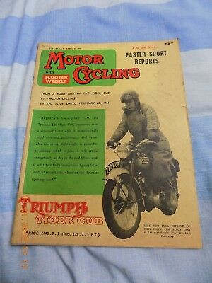 Motor Cycling/BMW R69S Test/AMC Racer/Scooter Weekly/Triumph T20 Cover