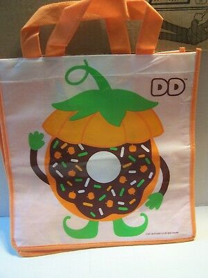 Dunkin Donuts Trick Or Treat Bags Pumpkin Halloween Reusable Bag Tote DD - Halloween Donuts