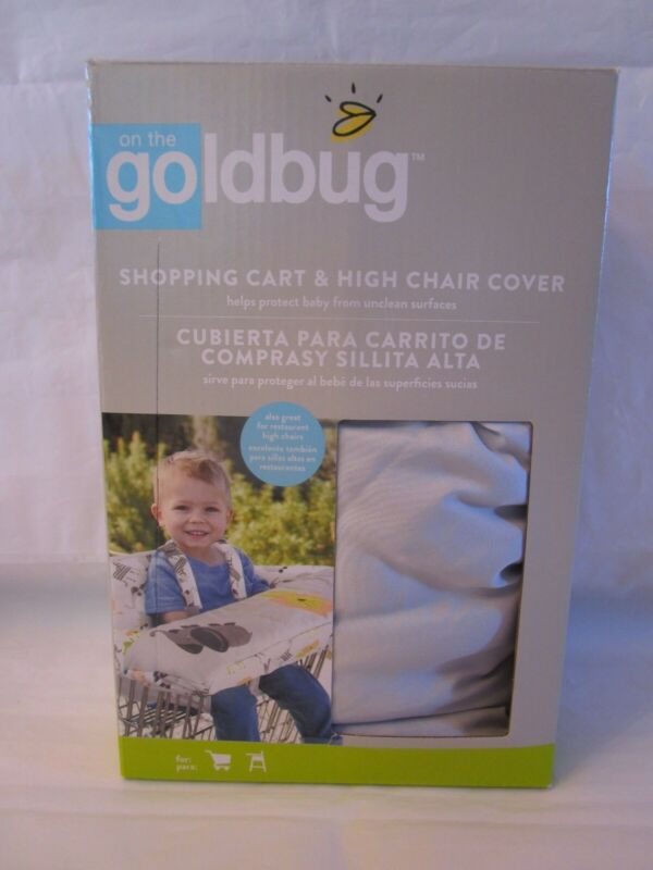 Goldbug Shopping Cart and High Chair Cover White w/Jungle Animals