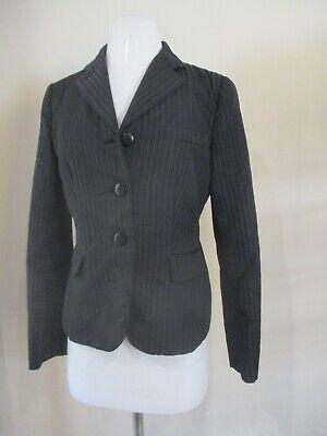 ARMANI COLLEZIONI black pinstripe quilted blazer jacket sz 8